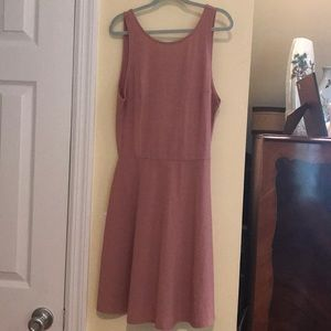 rose gold short dress / it has some shine to it